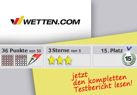 Wettanbieter wetten.com im Test